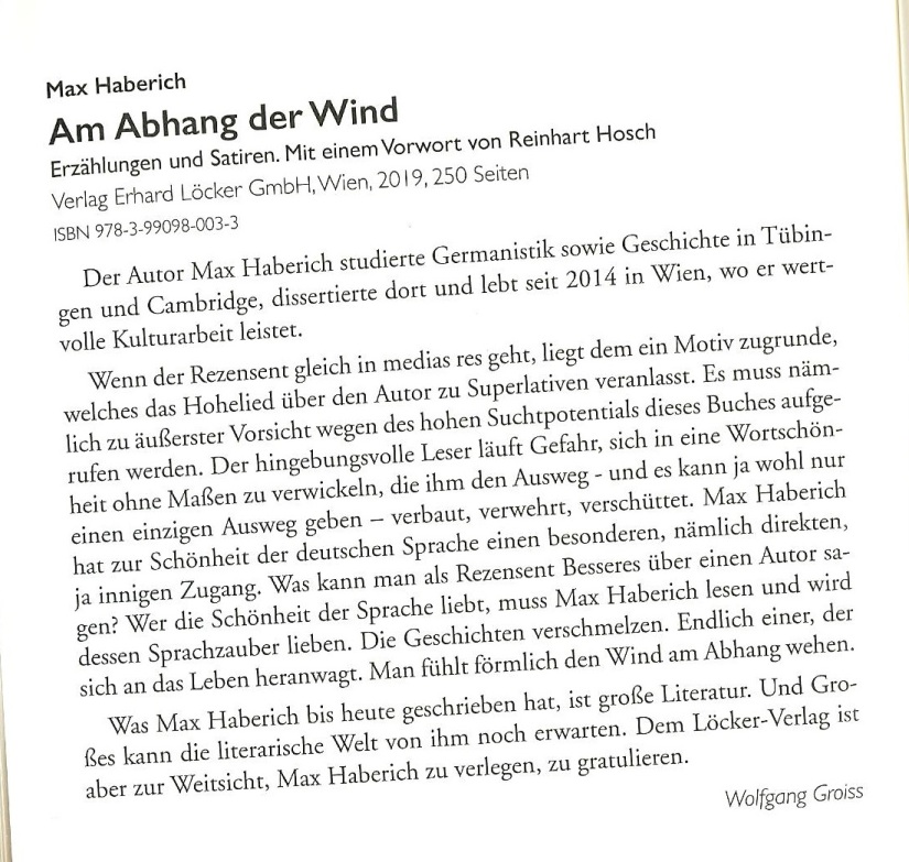 Rezension 'Am Abhang der Wind' LÖ (2-2020)